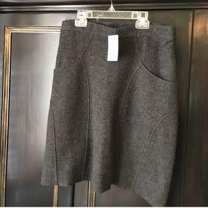 {Anthro} NWT Grey Wool Skirt